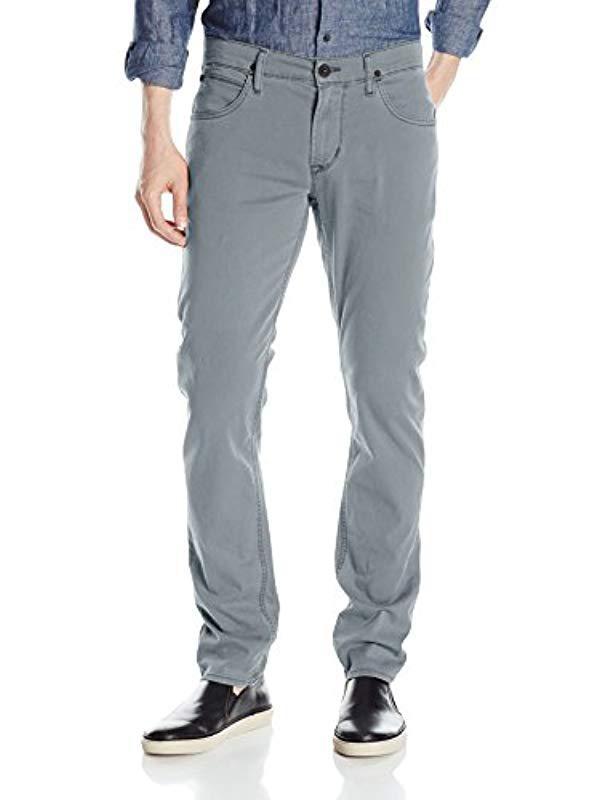 45cb55d2c64 Lyst - Hudson Jeans Blake Slim Straight Zip Fly Lightweight Twill in ...
