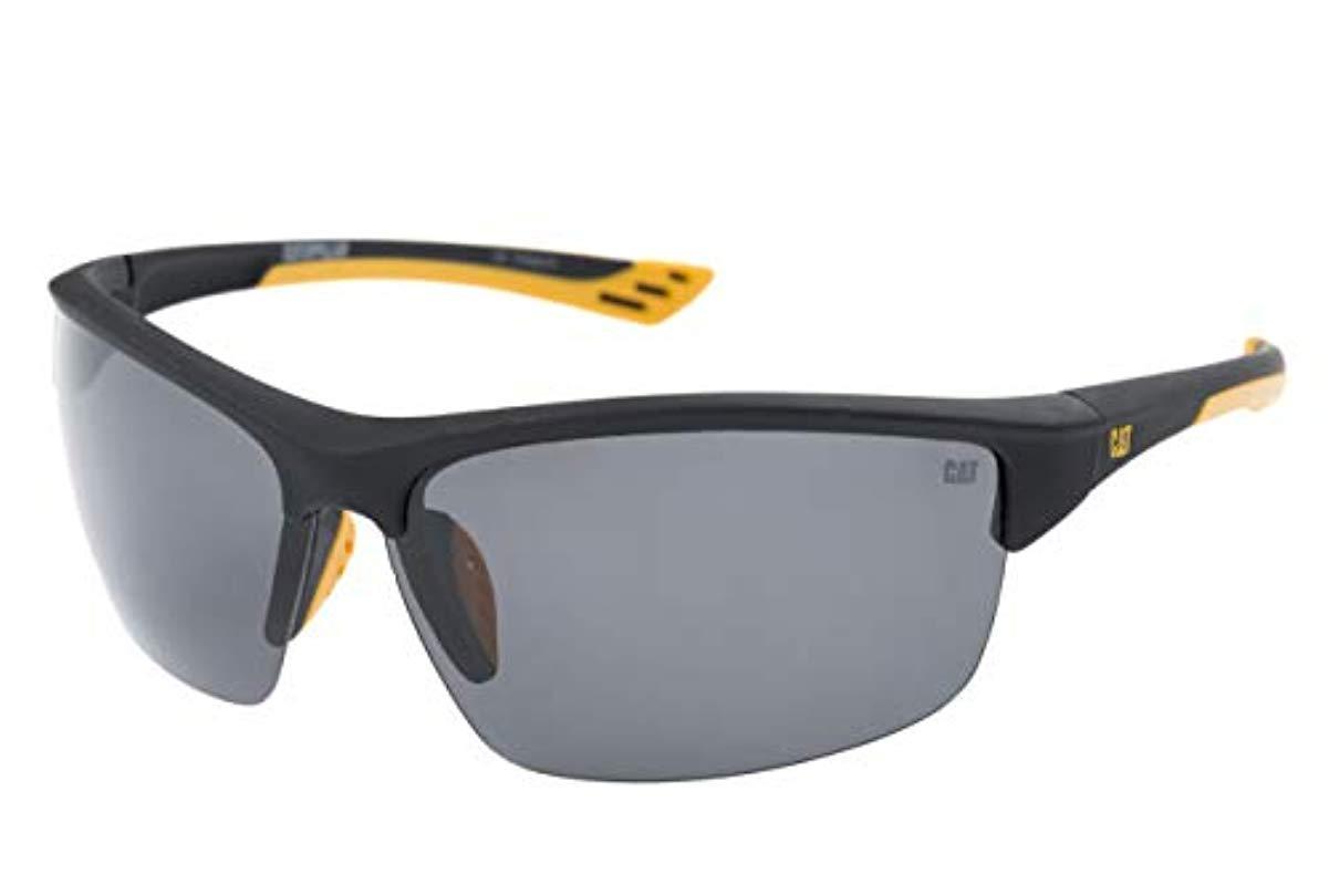 0c51b12fa54 Caterpillar. Men s Thermo Polarized Wrap Sunglasses ...