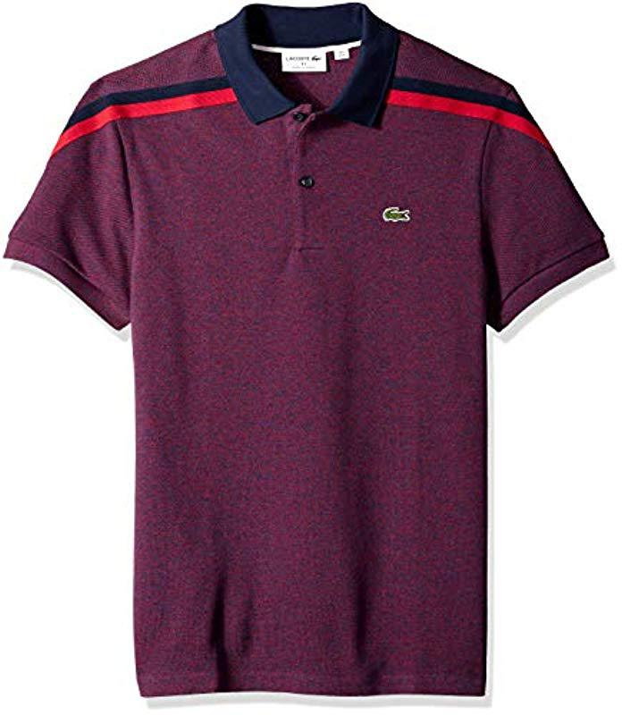1c2ed430b Lyst - Lacoste Short Sleeve Slim Fit Made In France Pique Polo in ...