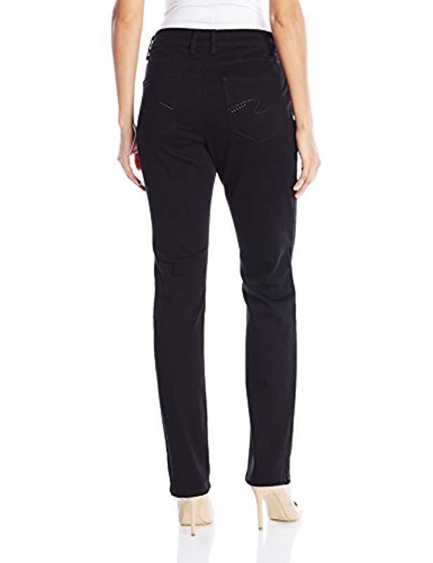 f590b46264bec Lyst - Lee Jeans Secretly Shapes Regular Fit Straight Leg Jean in Black -  Save 42%