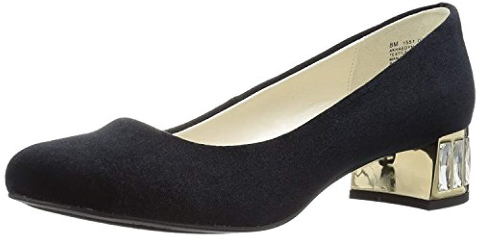 96752bcefd1 Lyst - Anne Klein Haedyn Fabric Dress Pump in Black - Save 53%