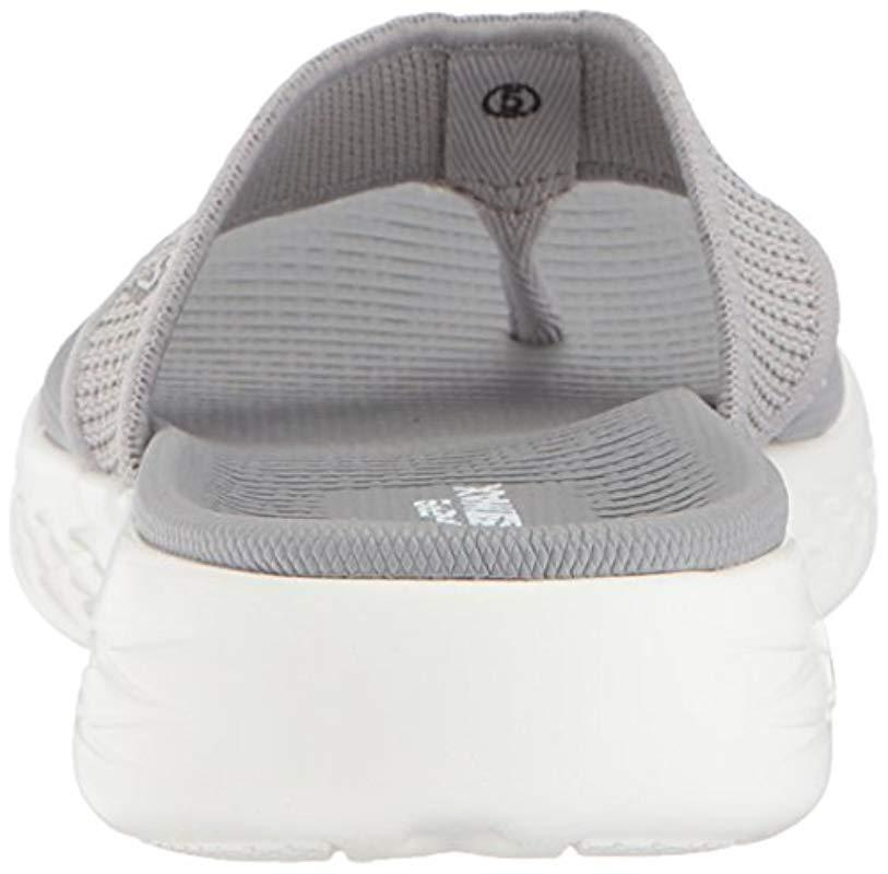 05d82139c57c Lyst - Skechers On-the-go 600-15300 Flip-flop in Gray - Save 15.0%