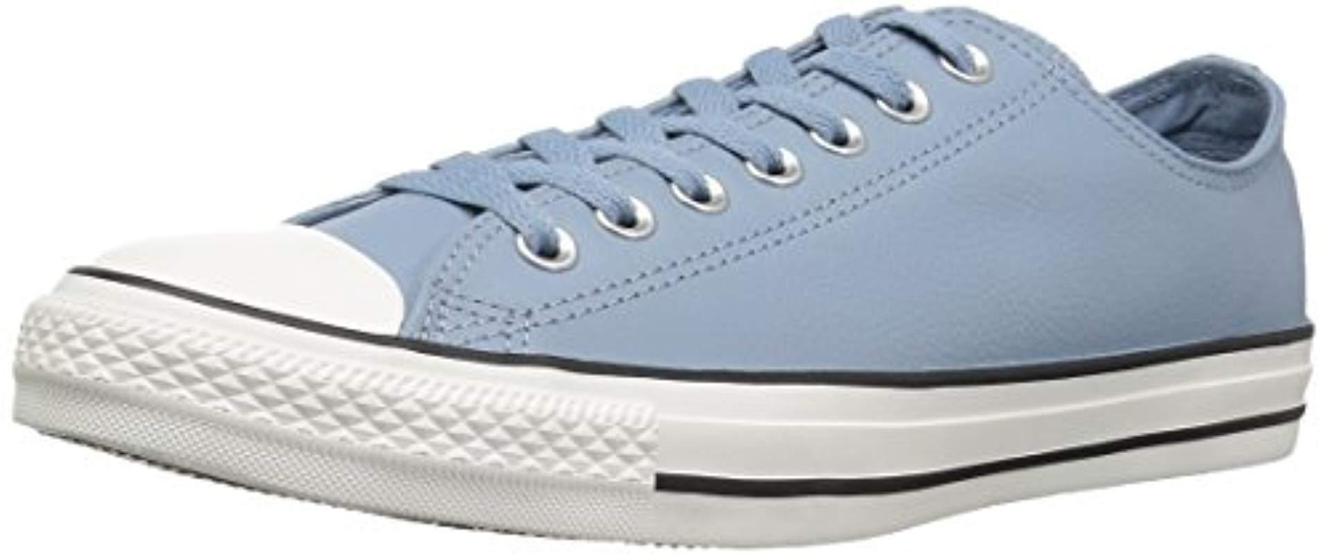 c5588f291bab Converse. Women s Blue Chuck Taylor All Star Tumbled Leather Low Top Sneaker