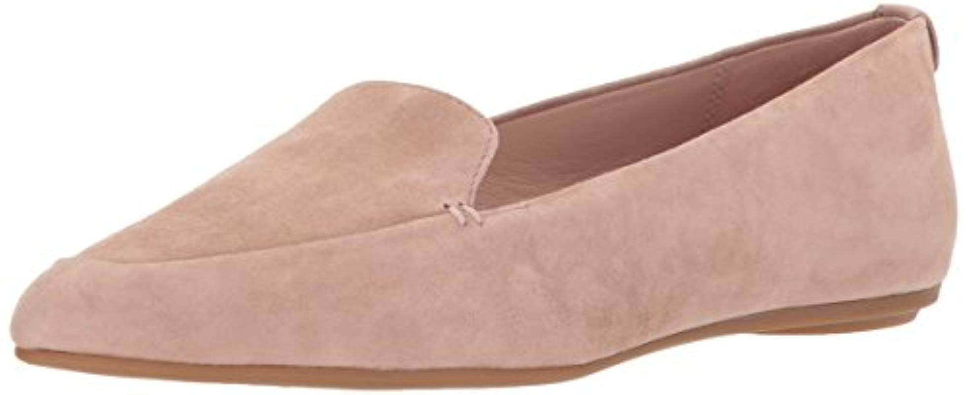 1feb7b4cce3 Lyst - Taryn Rose Faye Silky Suede Loafer Flat in Natural - Save 34%
