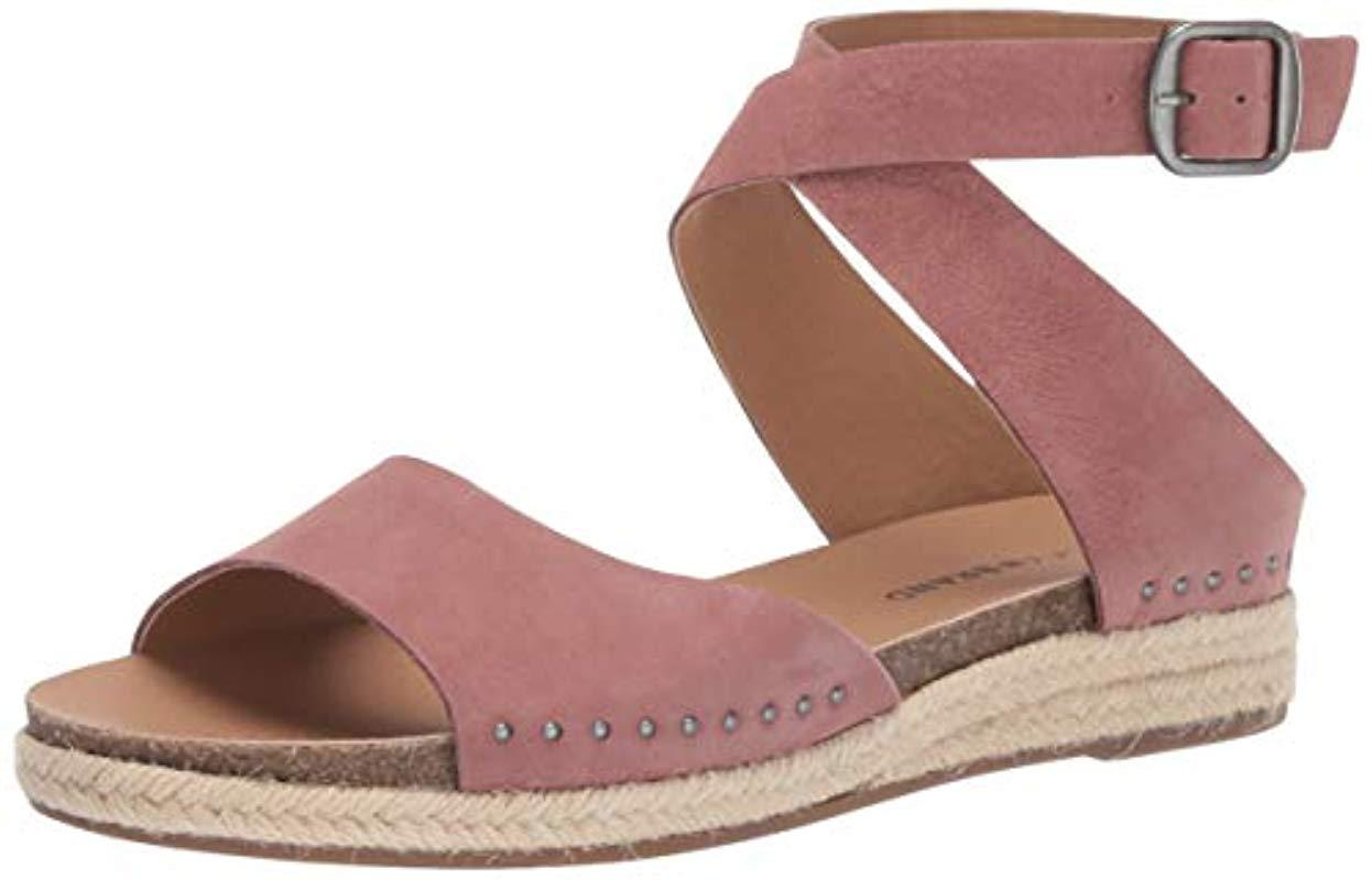 c045d6d969a Lyst - Lucky Brand Gladas Espadrille Wedge Sandal in Purple