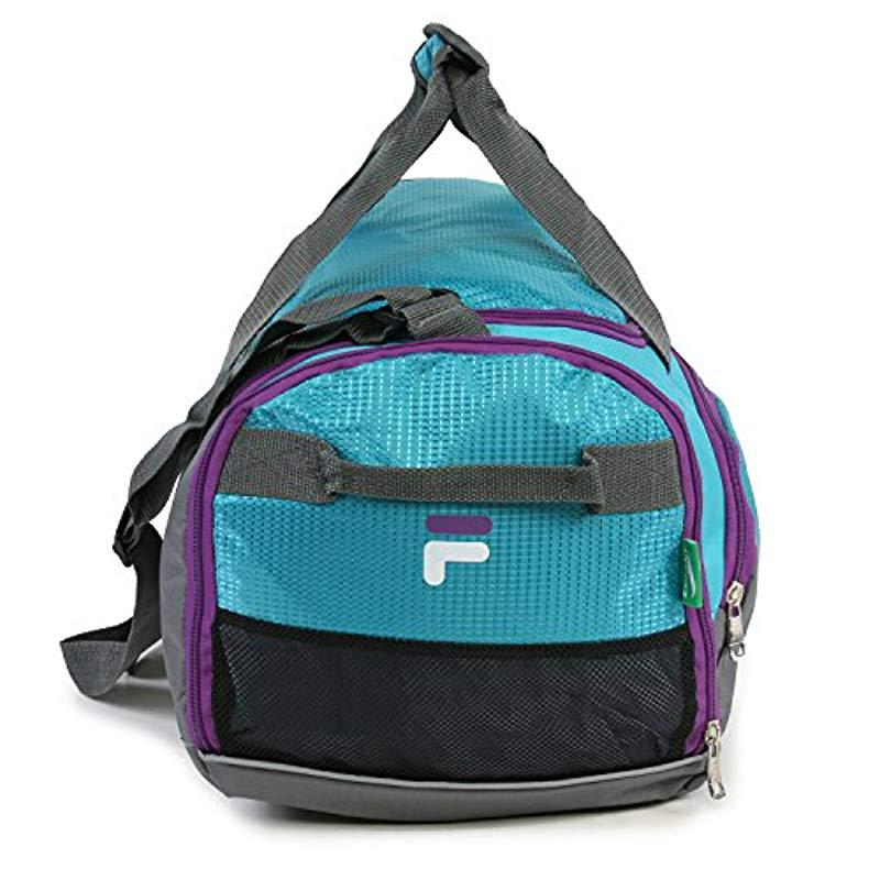 f4a79b2e8103 Fila - Blue Advantage Small Travel Gym Sport Duffel Bag for Men - Lyst.  View fullscreen