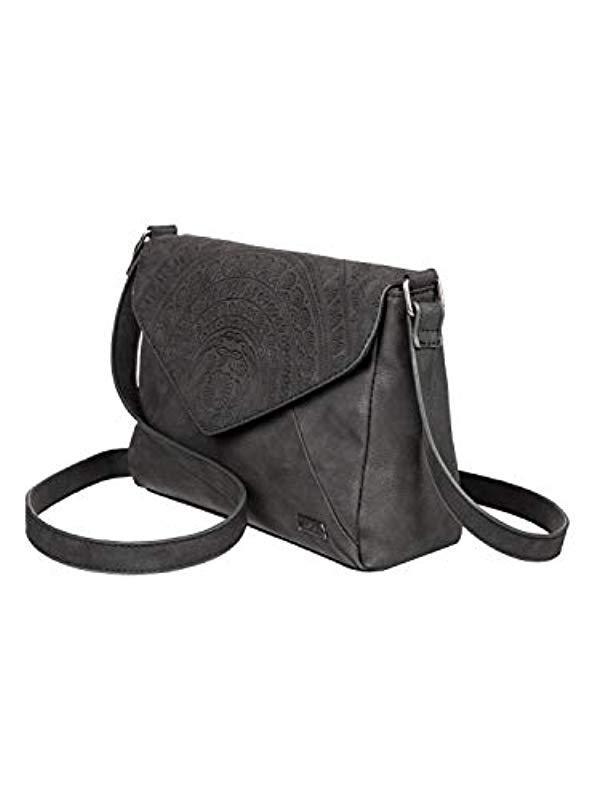 0bcf35fe83 Roxy - Black Small Faux Leather Handbag - Lyst. View fullscreen