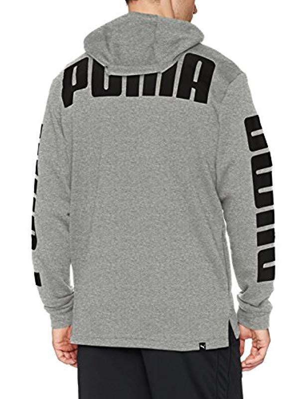 2150c1e8fa325 Lyst - PUMA Rebel Full Zip Hoodie French Terry in Gray for Men
