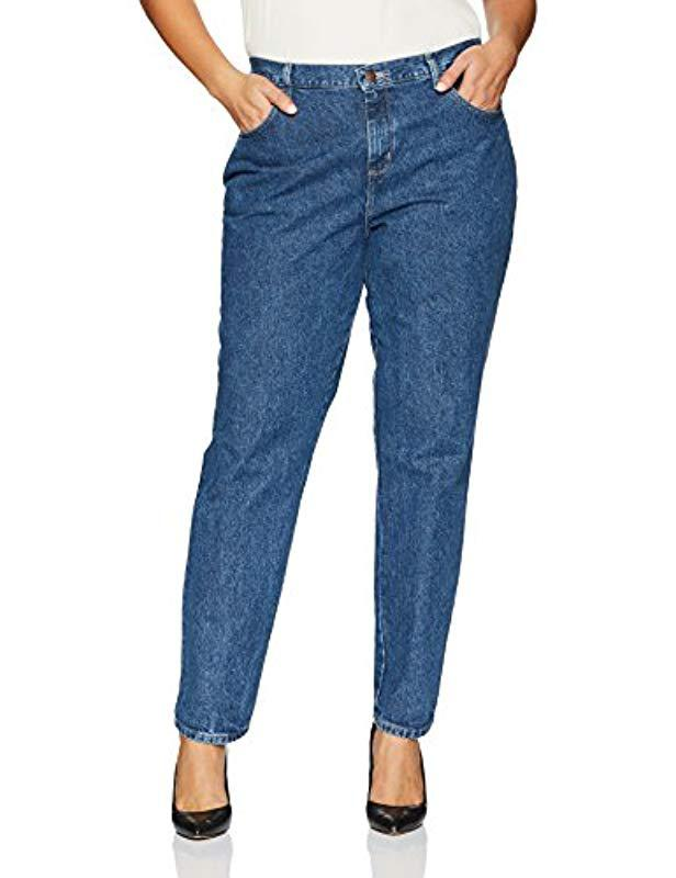 d630e1e9 Lee Jeans. Women's Blue Plus-size Relaxed Fit All Cotton Straight Leg Jean