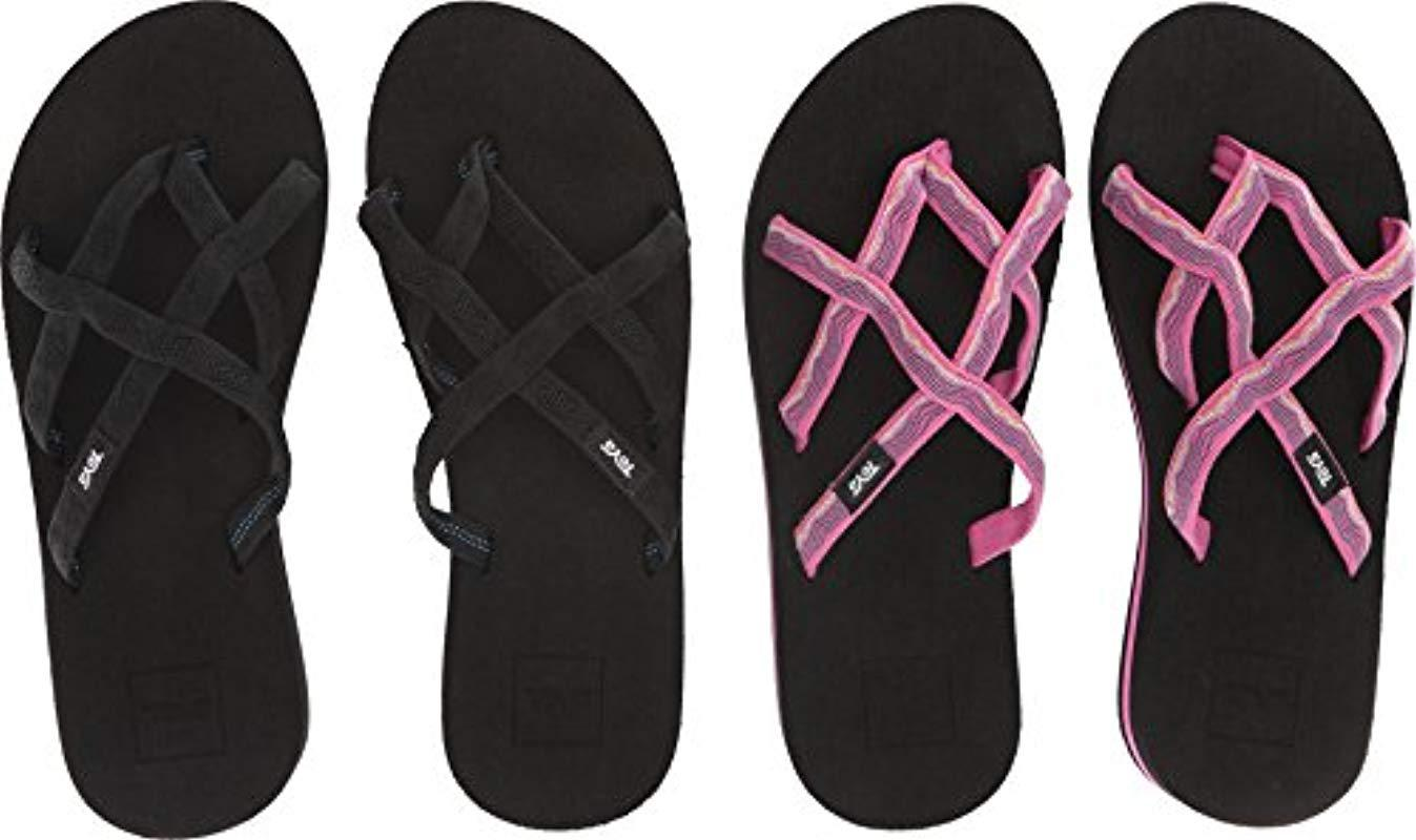 b5e5ea018c7f Lyst - Teva Olowahu Set Of Two Pairs Of Flip-flops in Black