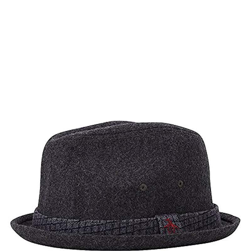 486817d8752 Lyst - Original Penguin Wool Porkpie in Gray for Men - Save 28%