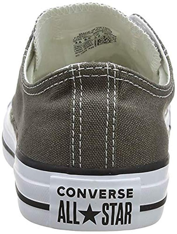 a07611f218a Lyst - Converse Chuck Taylor All Star Core Ox in Gray