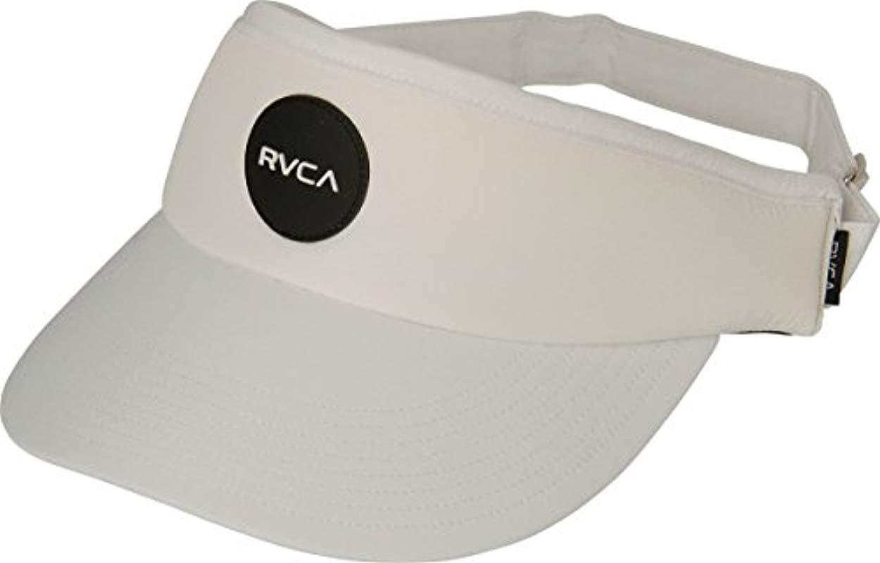 RVCA - White Poolside Visor for Men - Lyst. View fullscreen 2caabb41a521