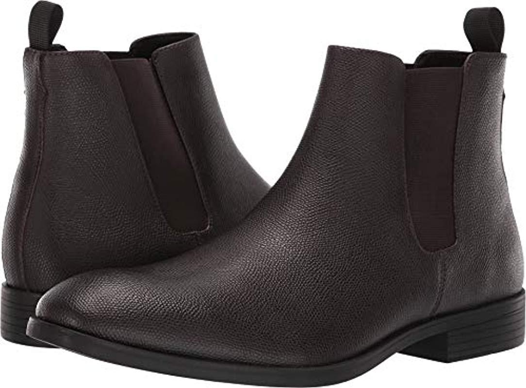 03b15bbf7c1 Lyst - Calvin Klein Carter Small Tumbled Leather Chelsea Boot in ...