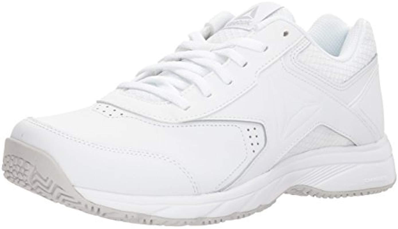 ff0cef8935d Lyst - Reebok Work N Cushion 3.0 Wide D Walking Shoe in White - Save 25%