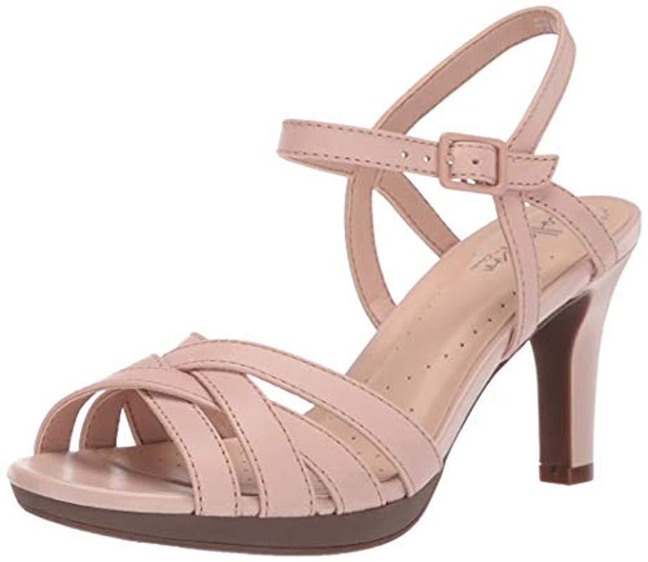 6e7ff5de0e6 Lyst - Clarks Adriel Wavy Heeled Sandal in Pink