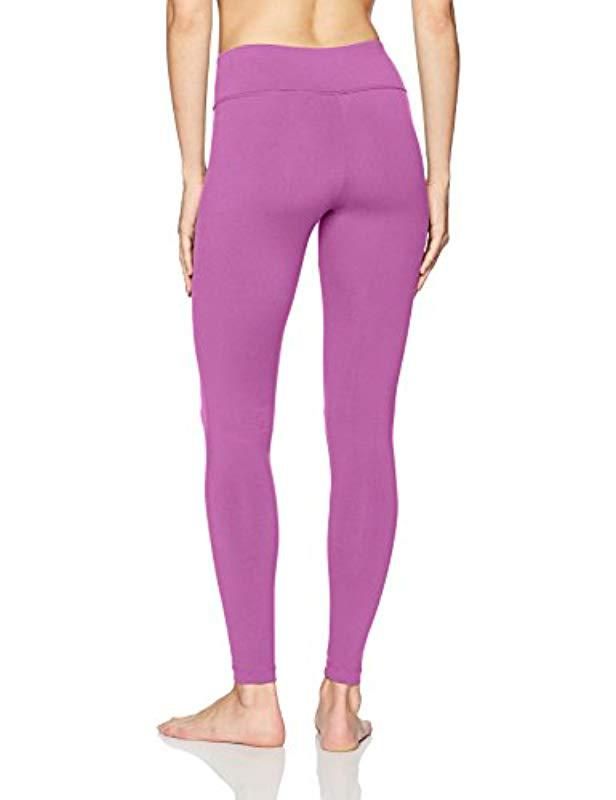 42ee73e6366d3 Lyst - Danskin Signature Wide Waist Yoga Ankle Legging in Purple