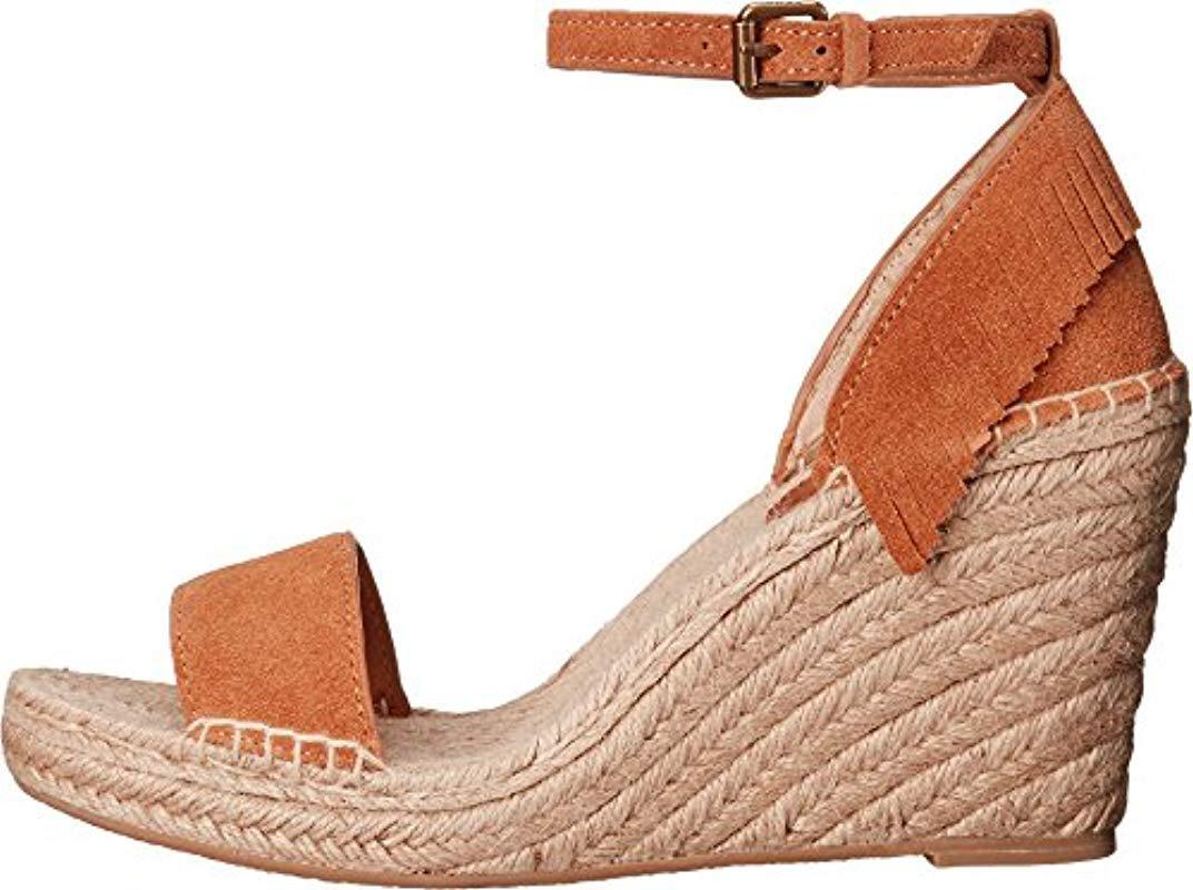 d1cd1811488 Lyst - Frye Lila Feather Espadrille Wedge Sandal