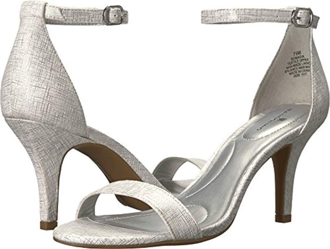 5f2f00498cc Lyst - Bandolino Madia Heeled Sandal Silver 8.5 M Us in Metallic