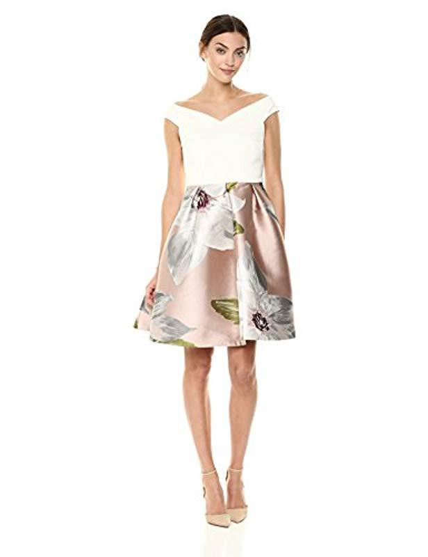 9861ac0a03f2ca Lyst - Ted Baker Valtia Dress in Natural - Save 62%