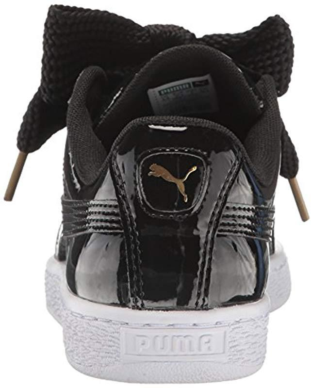 Sneaker Puma Basket Wn's 50 Heart Fashion Save In Black Patent Lyst 7y6gfb