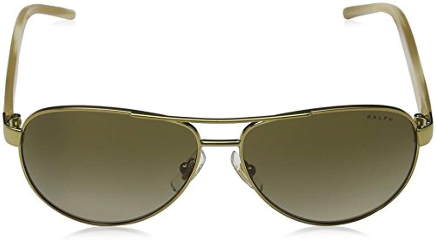 40855ee783e Lyst - Ralph By Ralph Lauren Ralph 4004 101-13 Gold And Cream 4004 ...