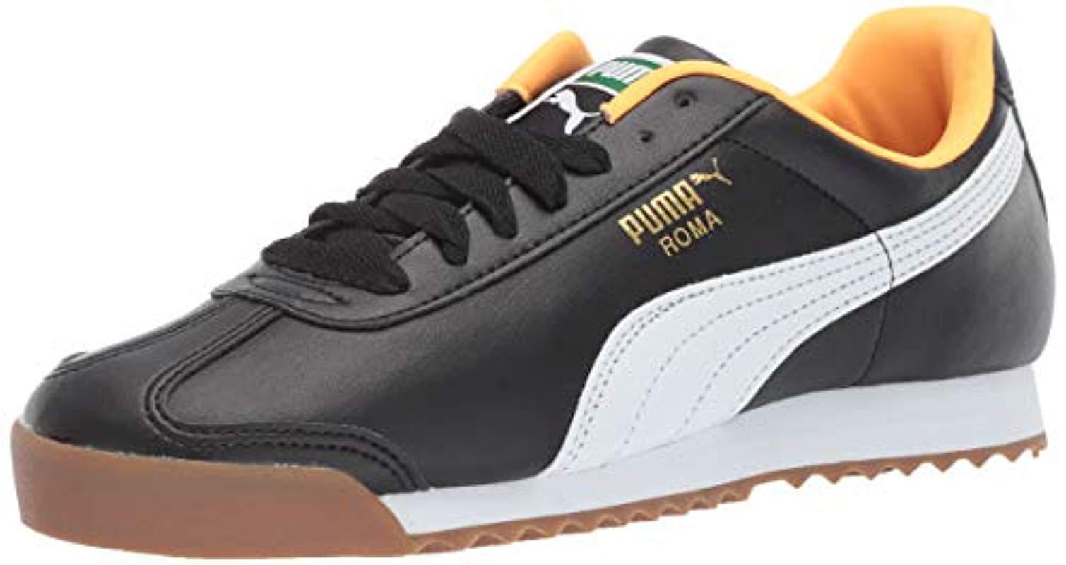 Lyst - PUMA Roma Basic Fashion Sneaker in Black for Men - Save 25% 55f820c03