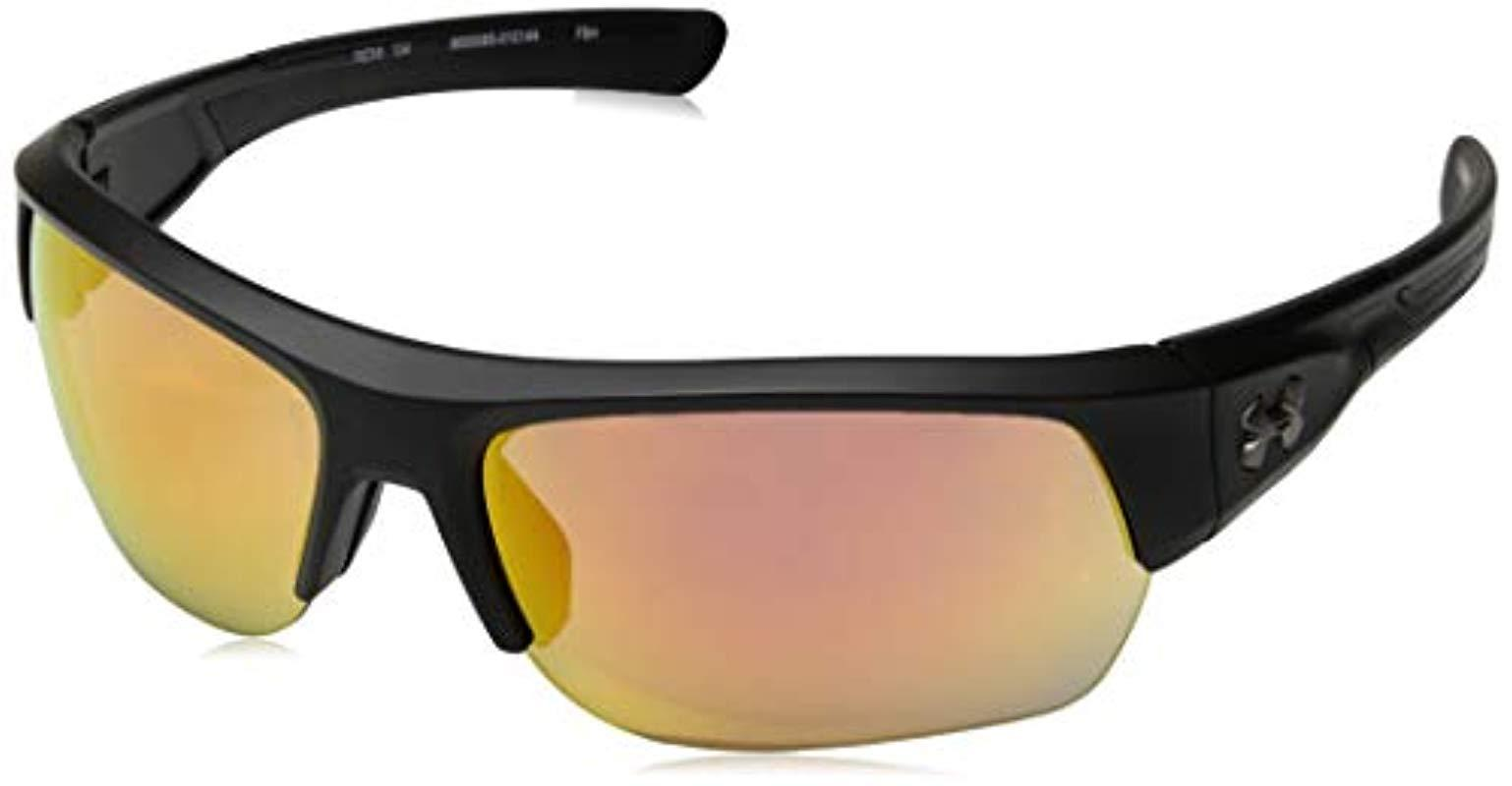 0819f05259c32 Under Armour. Men s Black Big Shot 8600085-100941 Rectangular Sunglasses