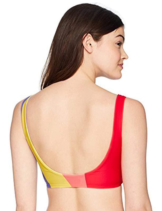 e60e547d3e47 Lyst - Mara Hoffman Lira Tank Bikini Top Swimsuit in Red