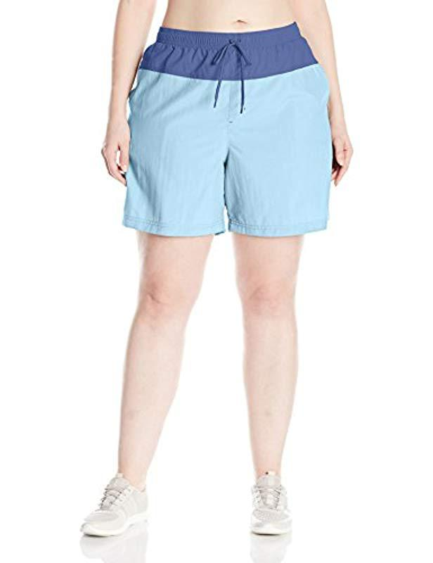 f639b98863 Lyst - Columbia Sandy River Color Plus Size Blocked Short, in Blue ...