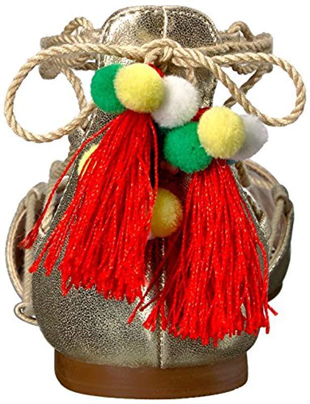 161f6e89c79 Lyst - Betsey Johnson Abree Dress Sandal in Metallic - Save  13.043478260869563%