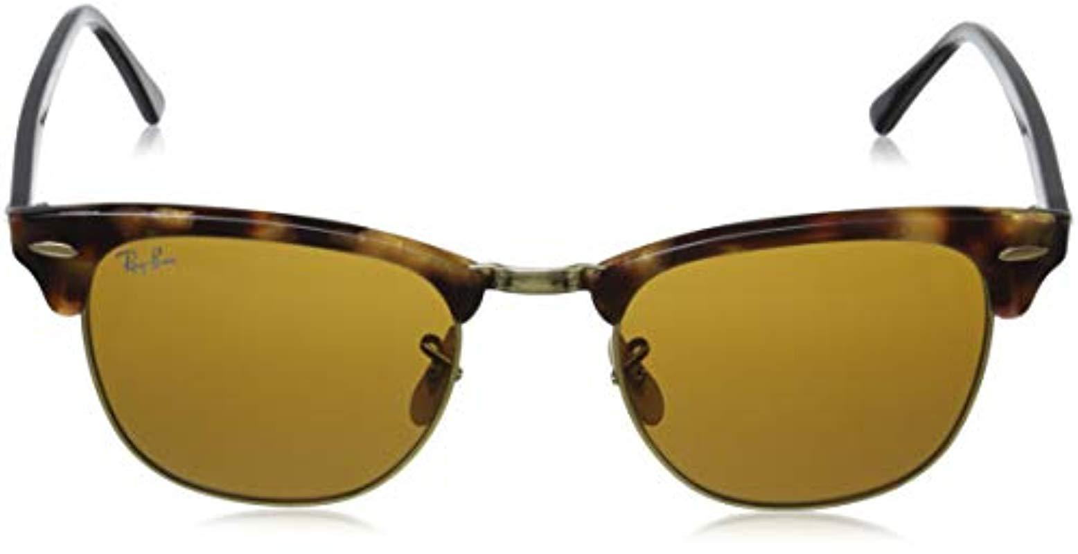 e0ce5f5985f83 Ray-Ban - Clubmaster Sunglasses In Spotted Brown Havana Rb3016 1160 51 for  Men -. View fullscreen