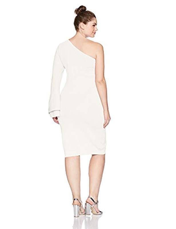 Lyst Rachel Rachel Roy Plus Size One Shoulder Bell Sleeve Dress In