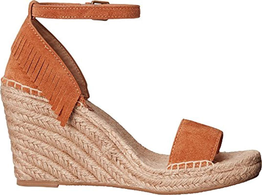 857242be08c Frye - Multicolor Lila Feather Espadrille Wedge Sandal - Lyst. View  fullscreen