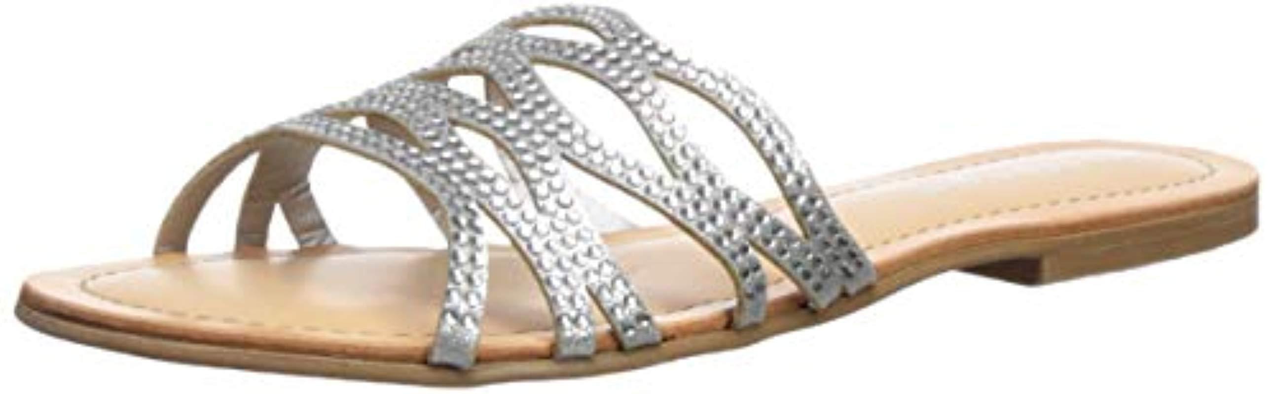 f7170c476f3 Lyst - Madden Girl Sundaay Slide Sandal in Metallic
