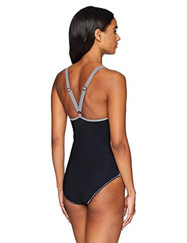 e55a20abc0d4 Gottex Sport Scoop Neck One Piece Swimsuit in Black - Save 49% - Lyst