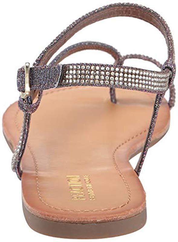 a772d43b2cf4 Kenneth Cole Reaction - Metallic Just Braid Flat Sandal With Toe Ring And  Ankle Straps -. View fullscreen