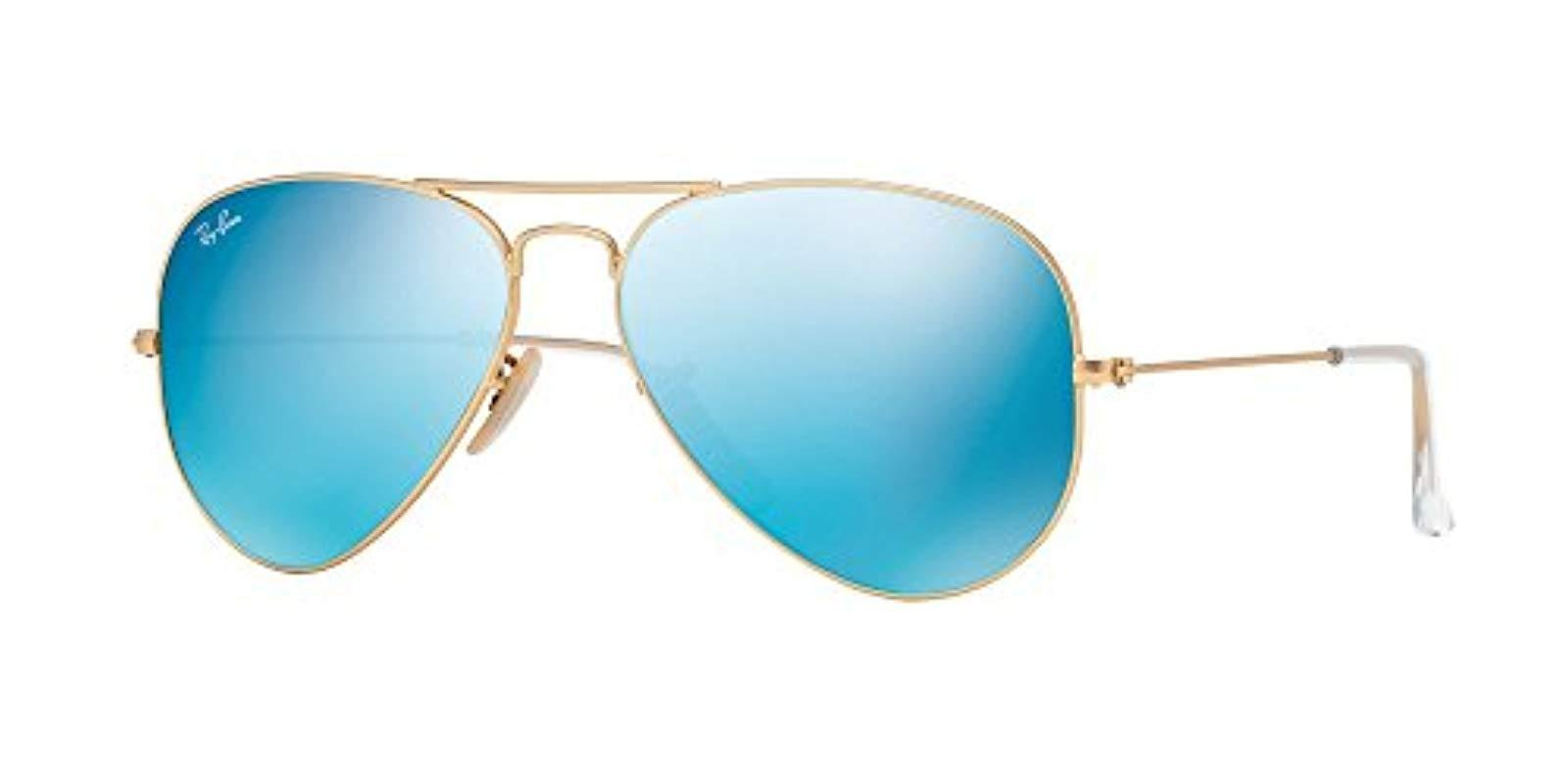 4243d4128a927 Lyst - Ray-Ban Rb3025 58 Original Aviator Mirror Collection in Blue ...