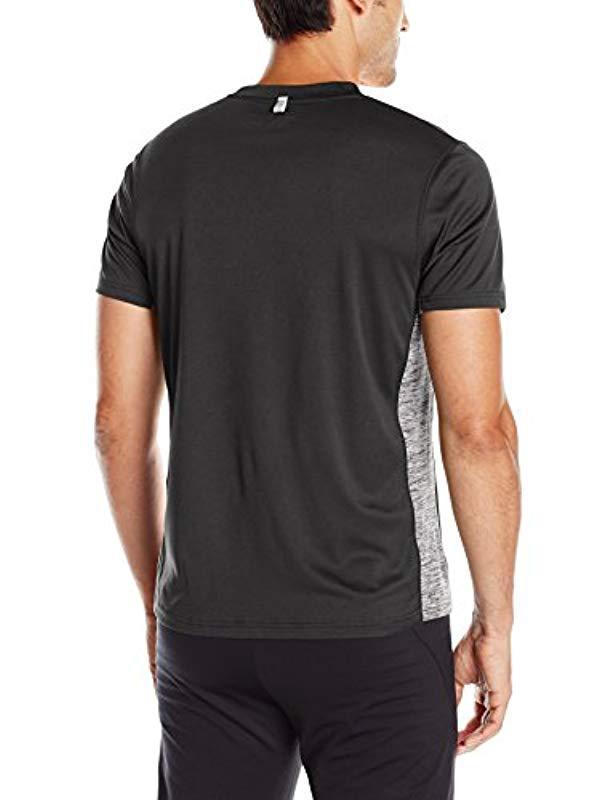 4810c8aa80df Lyst - Skechers Space Dye Crew Neck Tee in Black for Men - Save 28%