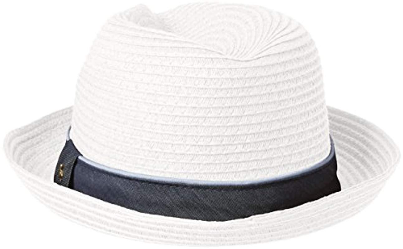 c1de6c86d70 Original Penguin - White Straw Porkpie Hat for Men - Lyst. View fullscreen