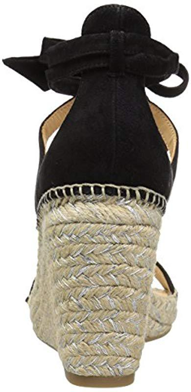 3b3b155b63a Lyst - Badgley Mischka Berkley Espadrille Wedge Sandal in Black ...