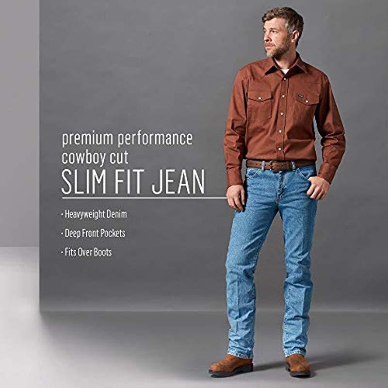 1def2030 Lyst - Wrangler Premium Performance Cowboy Cut Slim Fit Jean in Blue ...