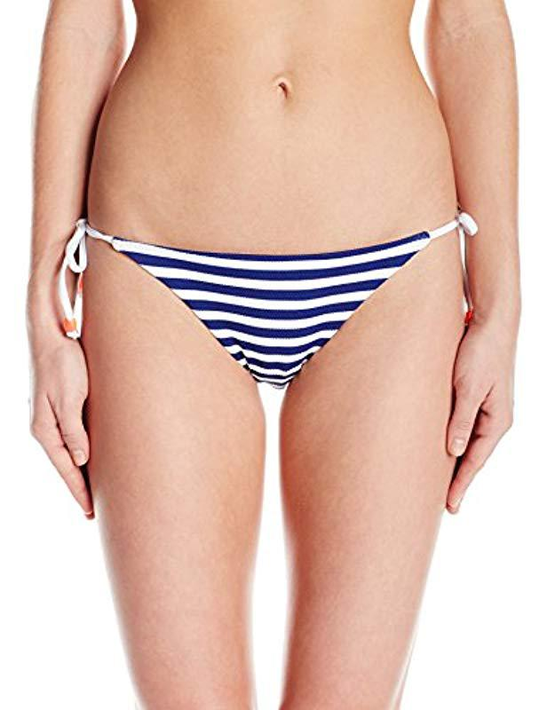 06618f7609 Lyst - Shoshanna Marine Stripe Clean String Bikini Bottom in Blue ...