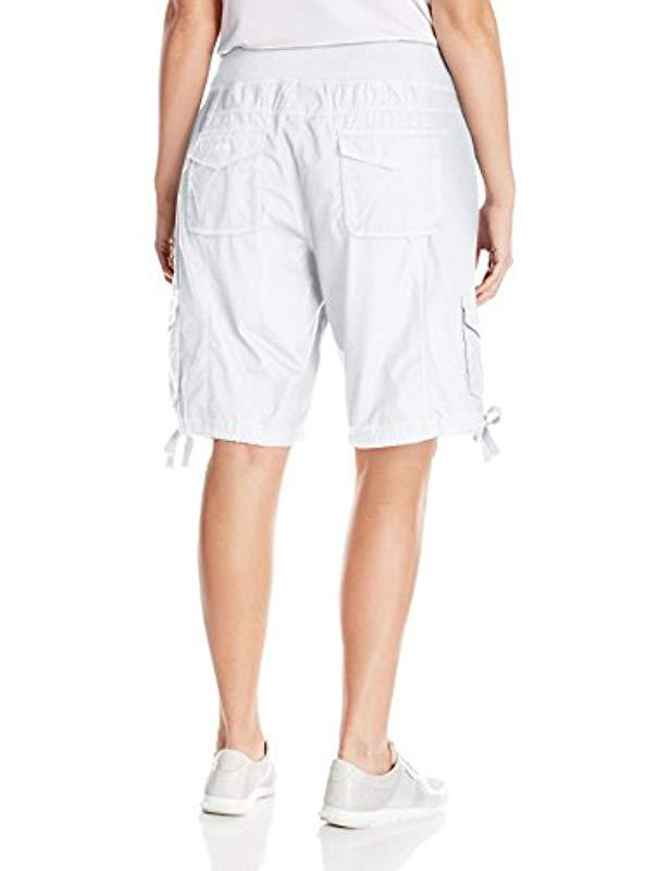 80030cfd2c1 Lyst - Calvin Klein Performance Plus-size Plus Woven Cargo Short in White