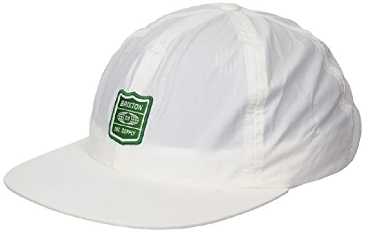 433a174fcc116 Brixton - White United Low Profile Unstructured Adjustable Hat for Men -  Lyst. View fullscreen