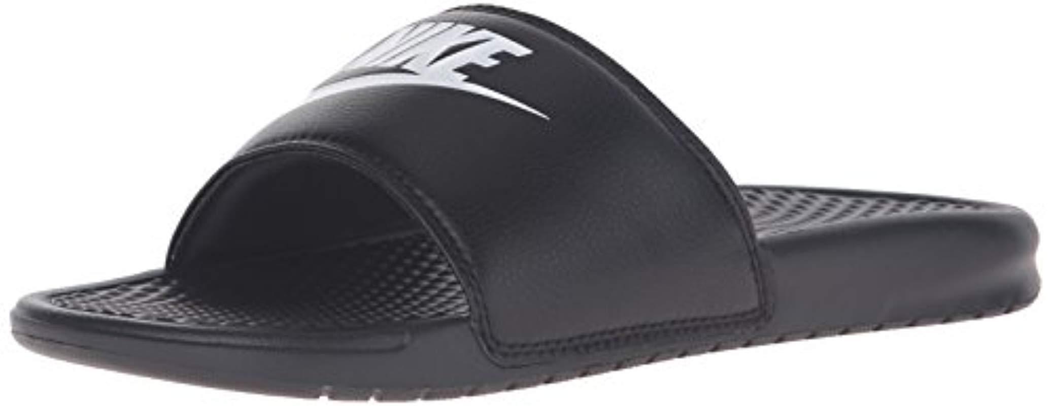 588dea59da6a3 Lyst - Nike Benassi Just Do It Slide Sandal in Black for Men