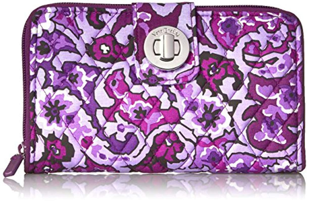 ad8954a5cf Vera Bradley. Women s Purple Rfid Turnlock Wallet