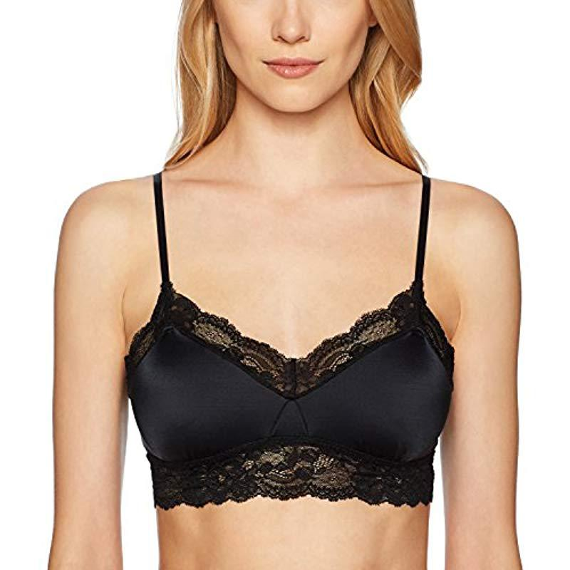 38700a47d9b26e Lyst - Mae Microfiber Longline Lace Bralette (for A-c Cups) in Black ...