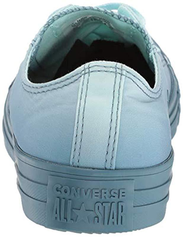 76584c9a230b Lyst - Converse Unisex Chuck Taylor All Star Dip Dye Low Top Sneaker in Blue