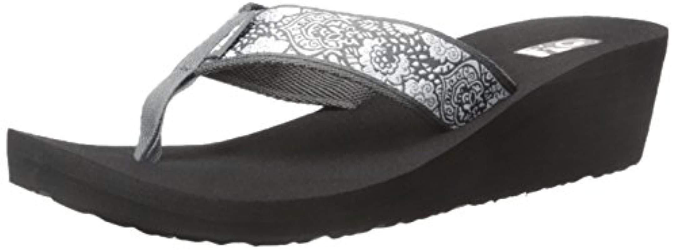 9d85753e2 Lyst - Teva Mush Mandalyn Wedge 2- Pack Sandal in Black